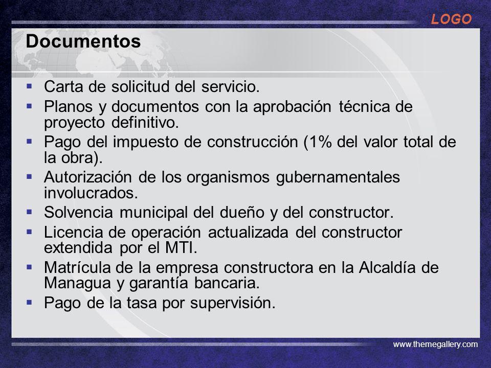 Documentos Carta de solicitud del servicio.