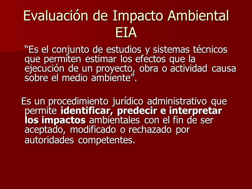 Evaluación de Impacto Ambiental EIA
