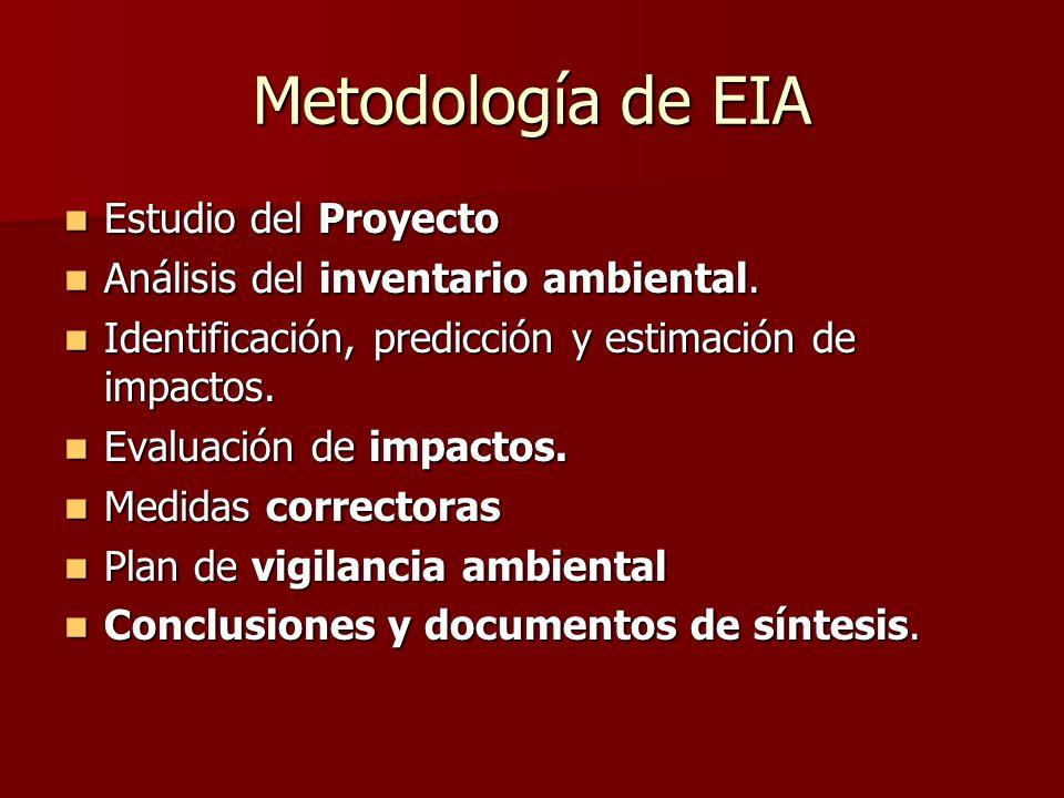 Metodología de EIA Estudio del Proyecto