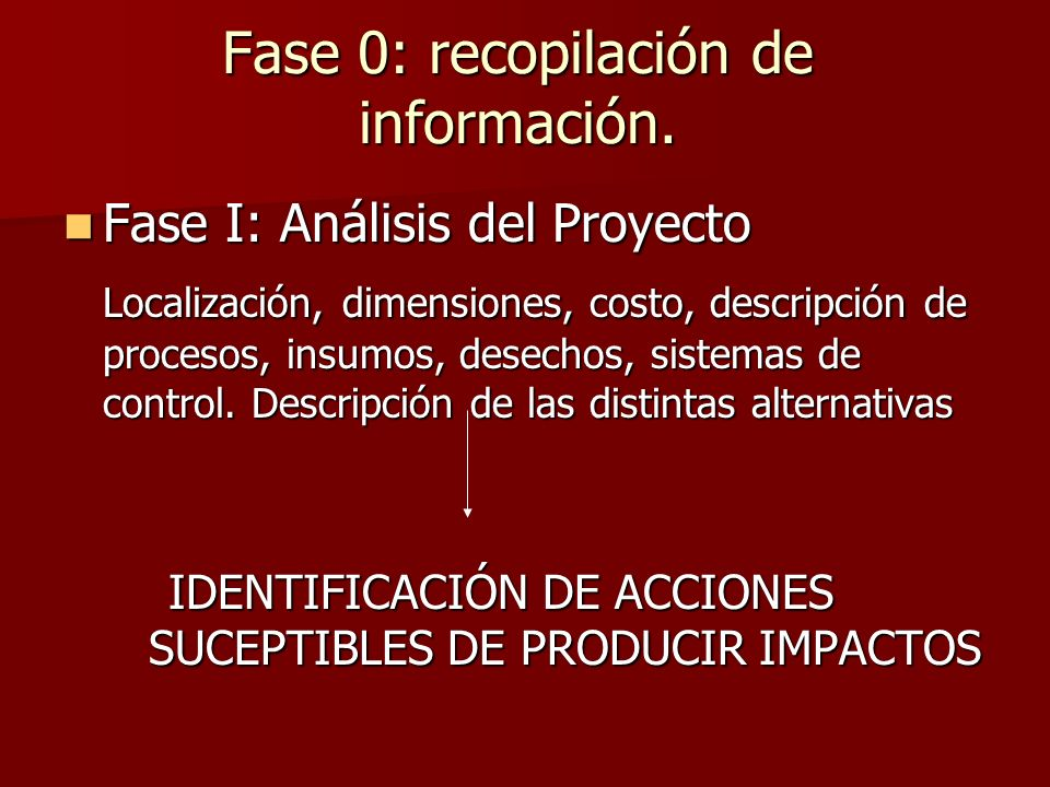 Fase 0: recopilación de información.