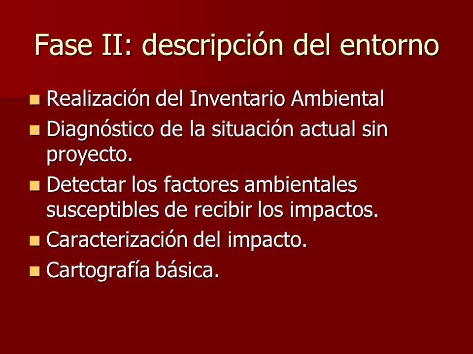 Fase II: descripción del entorno