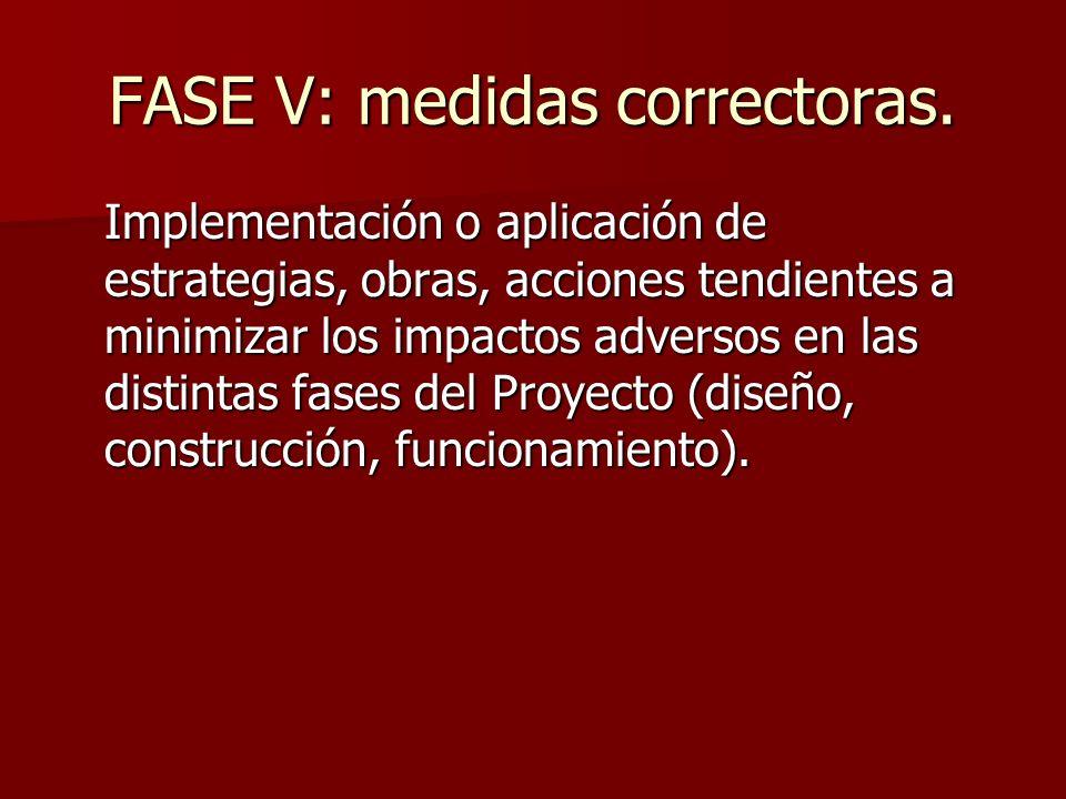 FASE V: medidas correctoras.