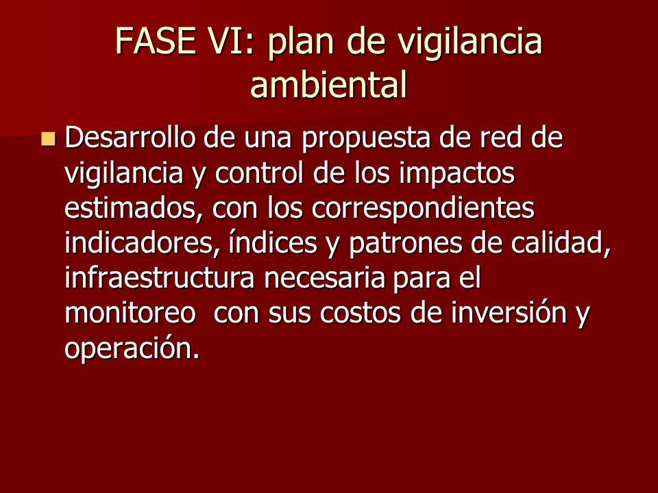 FASE VI: plan de vigilancia ambiental