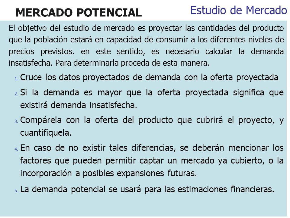 MERCADO POTENCIAL Estudio de Mercado