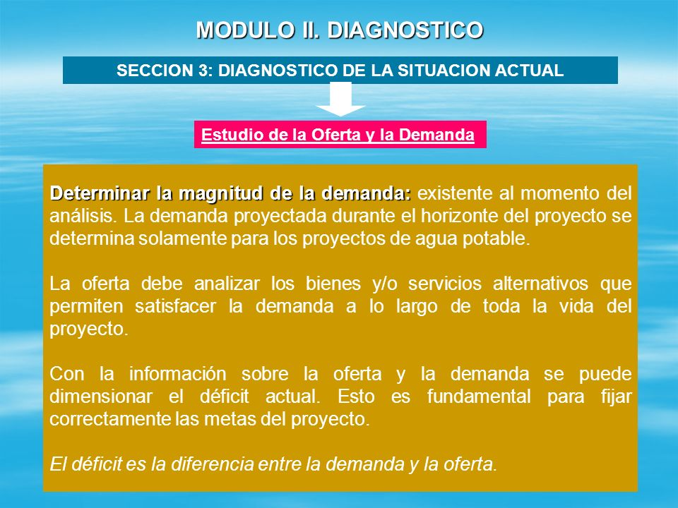 SECCION 3: DIAGNOSTICO DE LA SITUACION ACTUAL