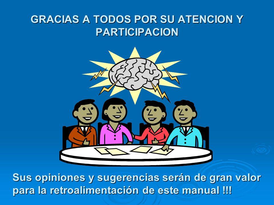 GRACIAS A TODOS POR SU ATENCION Y PARTICIPACION