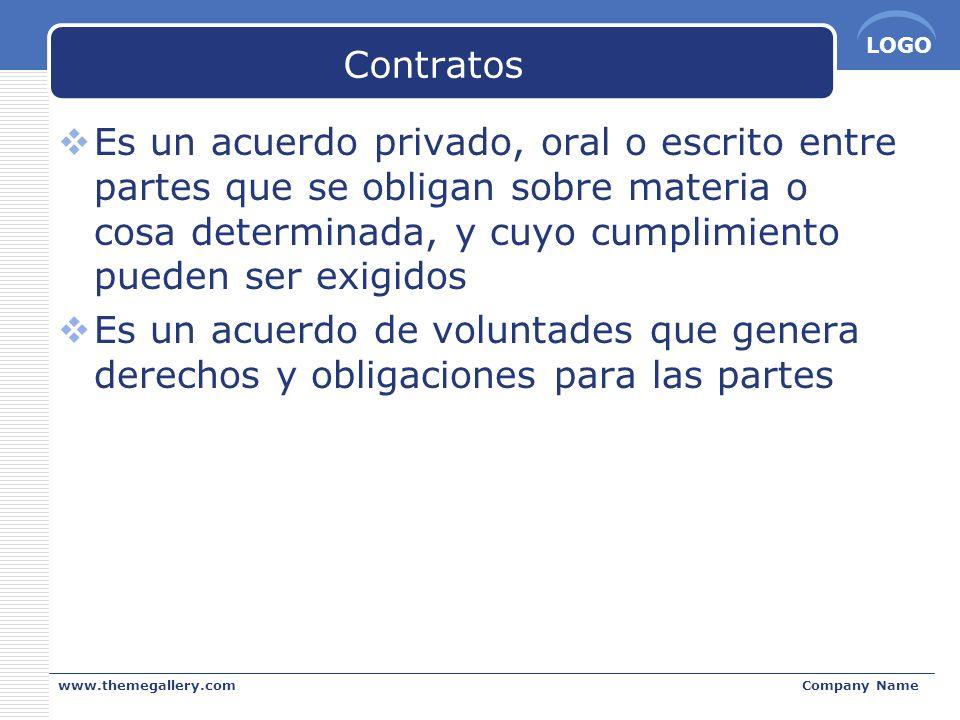 Contratos Es un acuerdo privado, oral o escrito entre partes que se obligan sobre materia o cosa determinada, y cuyo cumplimiento pueden ser exigidos.