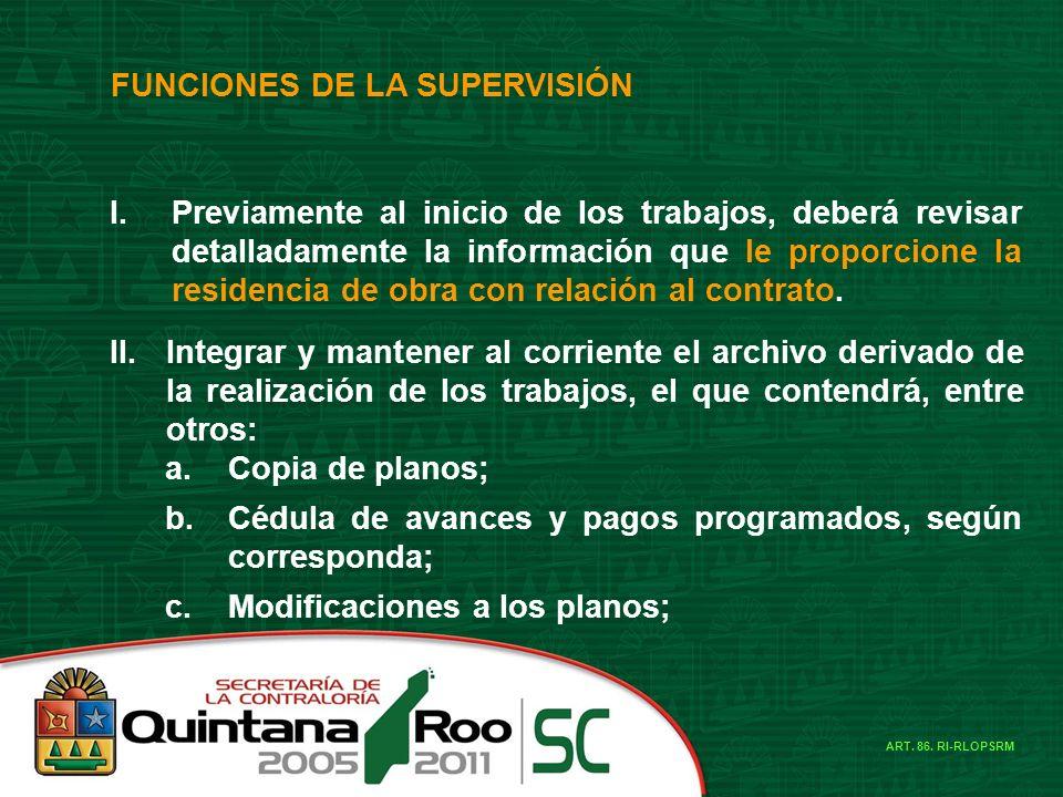 FUNCIONES DE LA SUPERVISIÓN I.