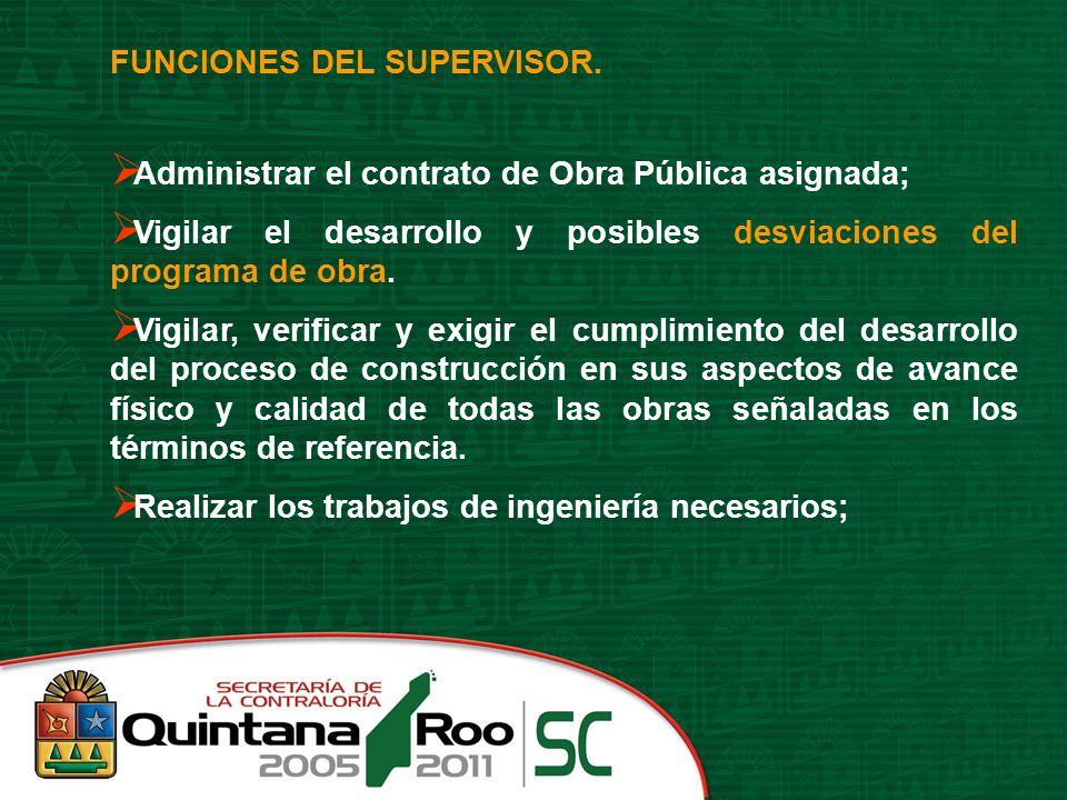 FUNCIONES DEL SUPERVISOR.