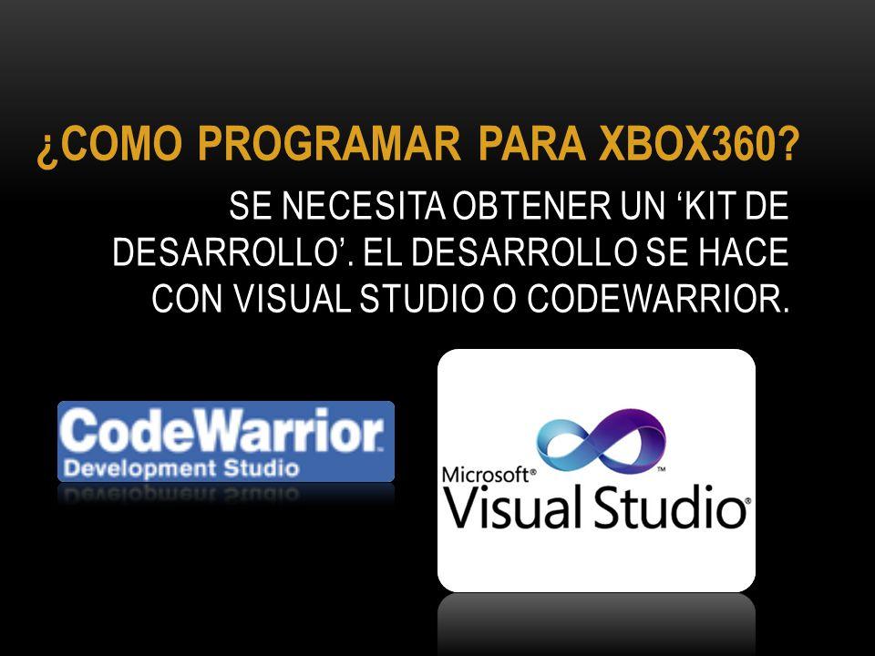¿COMO PROGRAMAR PARA XBOX360