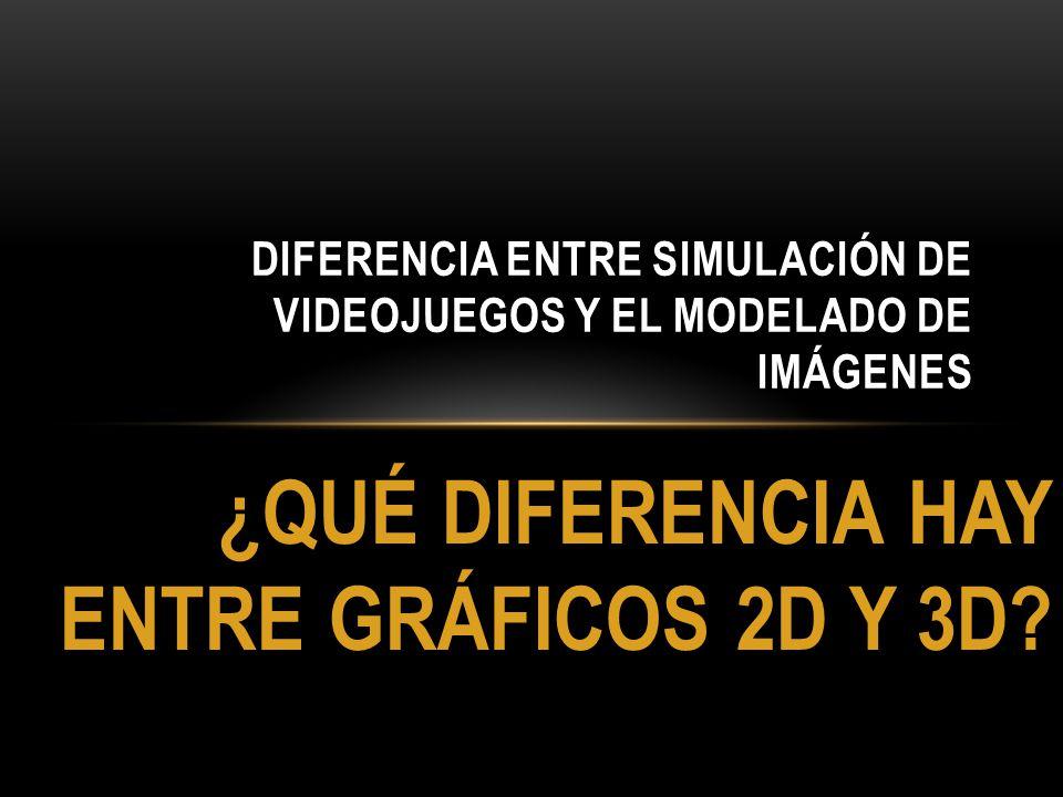 Diferencia entre simulación de videojuegos y el modelado de imágenes