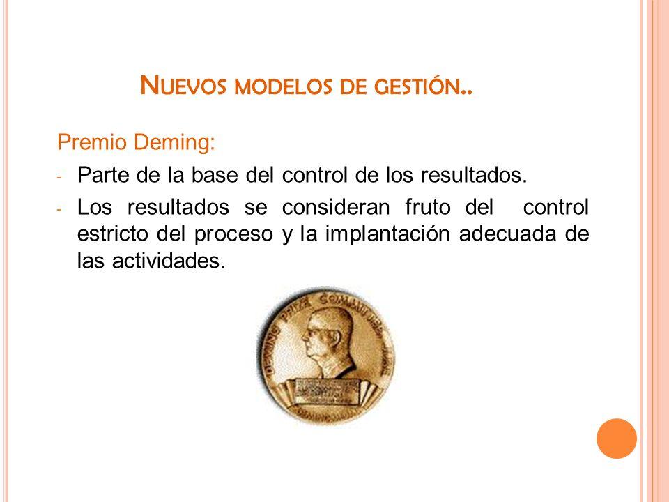 Nuevos modelos de gestión..