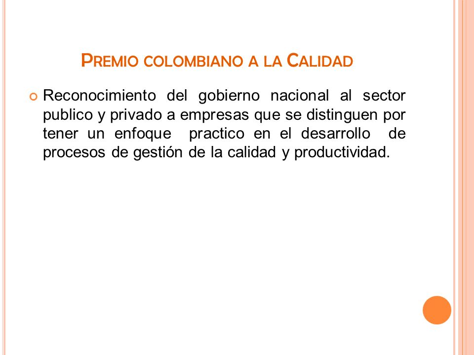 Premio colombiano a la Calidad