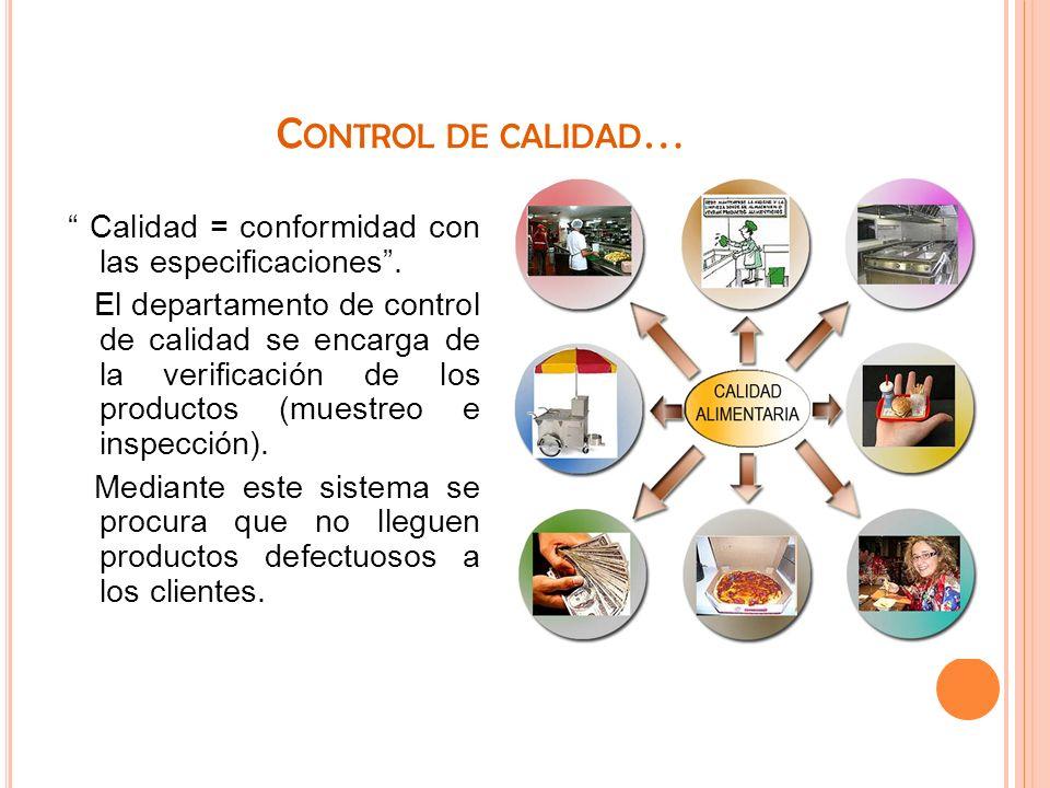 Control de calidad…