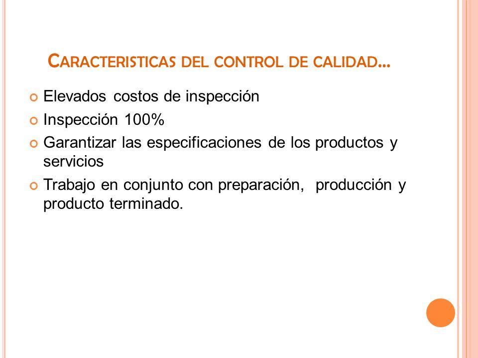 Caracteristicas del control de calidad…