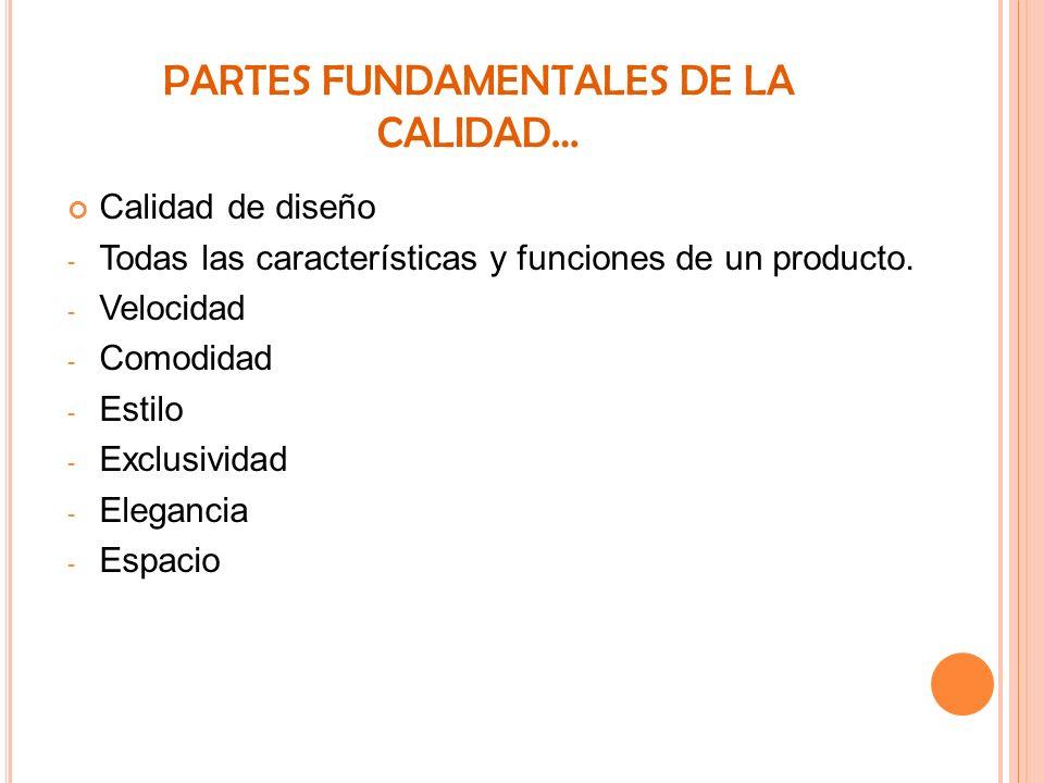 PARTES FUNDAMENTALES DE LA CALIDAD…