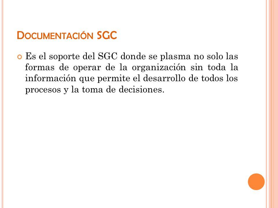 Documentación SGC