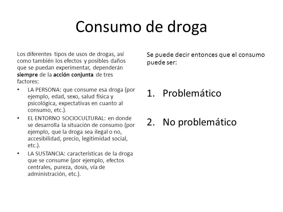 Consumo de droga Problemático 2. No problemático