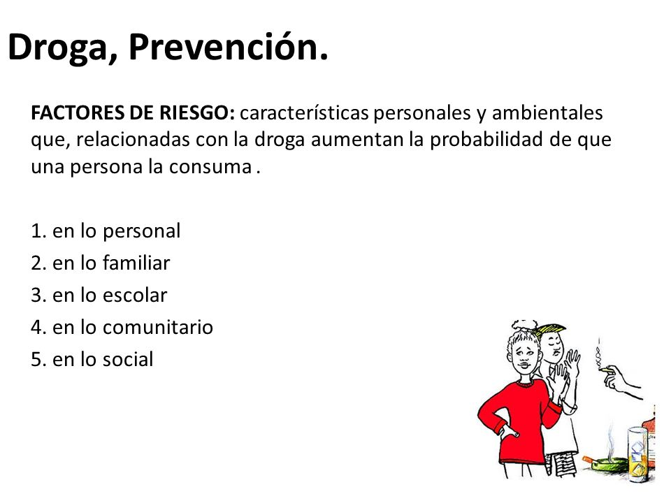 Droga, Prevención.