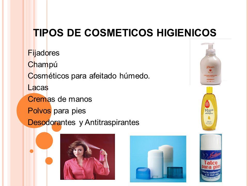 TIPOS DE COSMETICOS HIGIENICOS