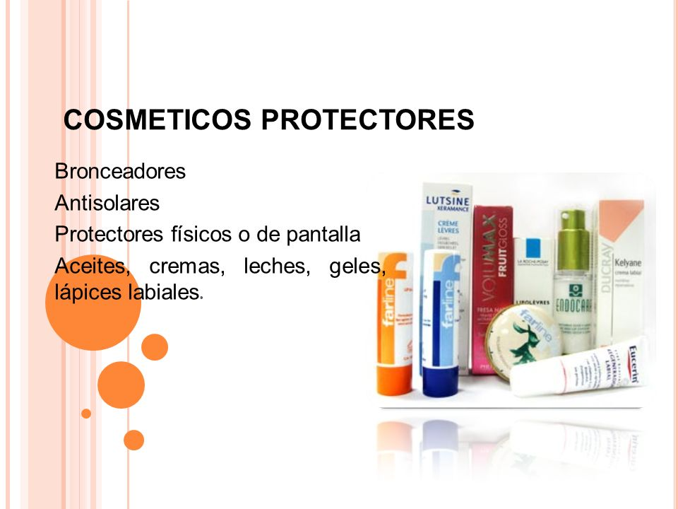 COSMETICOS PROTECTORES