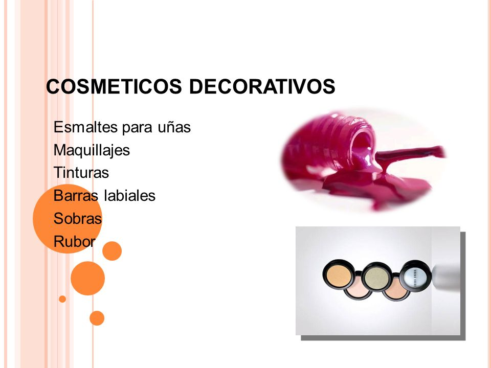COSMETICOS DECORATIVOS