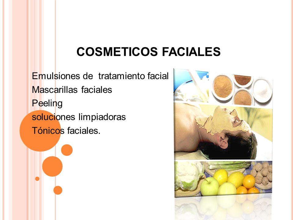 COSMETICOS FACIALES Emulsiones de tratamiento facial
