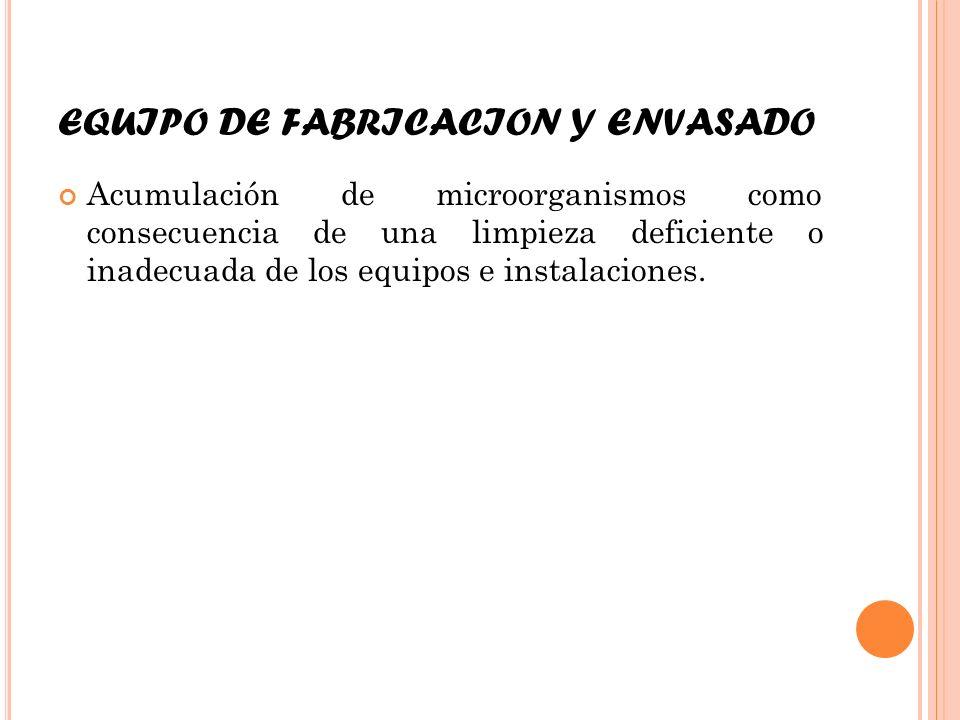 EQUIPO DE FABRICACION Y ENVASADO