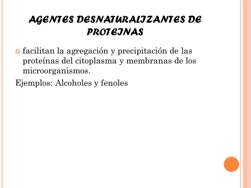 AGENTES DESNATURALIZANTES DE PROTEINAS