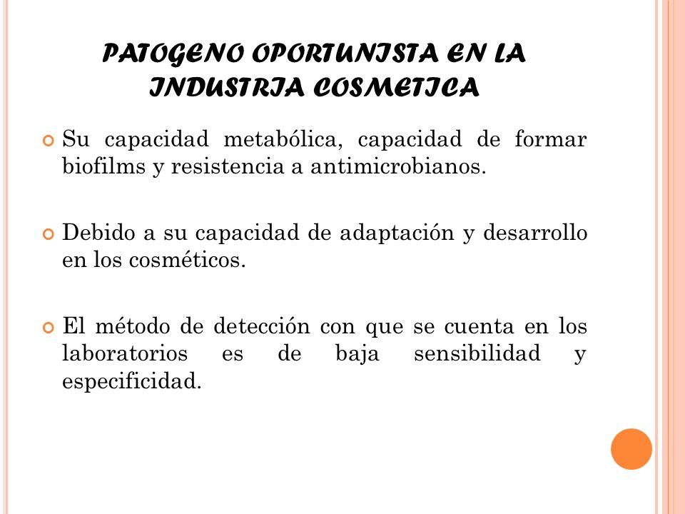 PATOGENO OPORTUNISTA EN LA INDUSTRIA COSMETICA