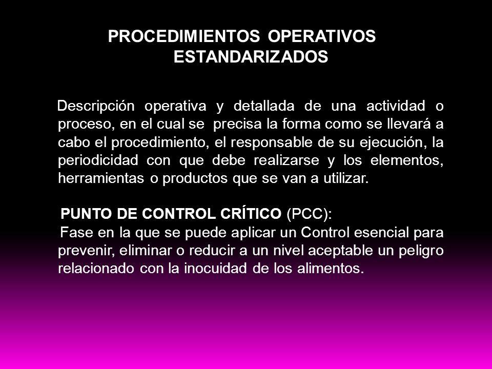PROCEDIMIENTOS OPERATIVOS ESTANDARIZADOS