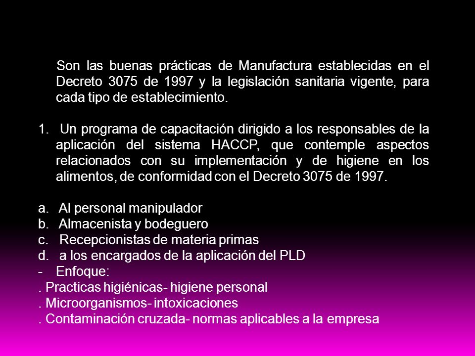 PRE-Requisitos HACCP