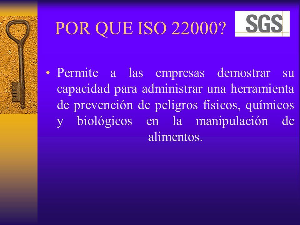 POR QUE ISO 22000