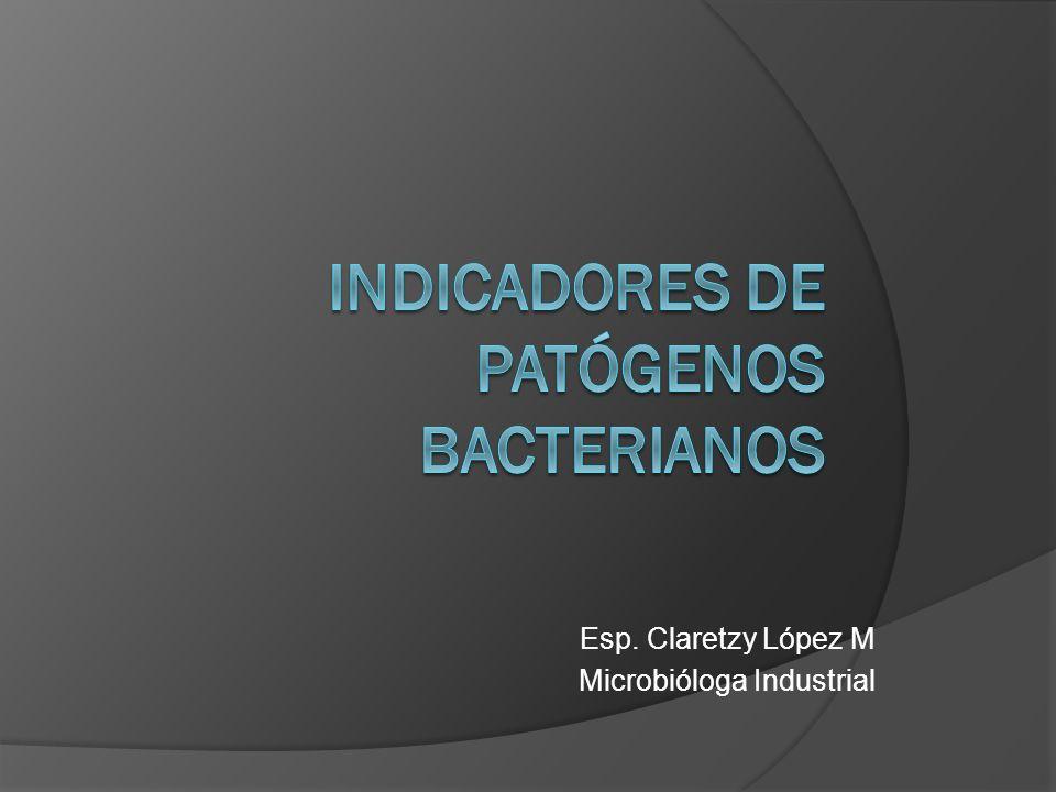 Indicadores de patógenos bacterianos