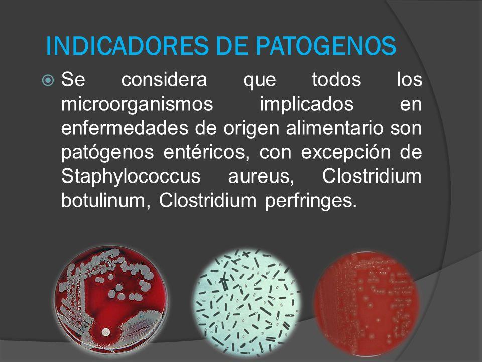 INDICADORES DE PATOGENOS