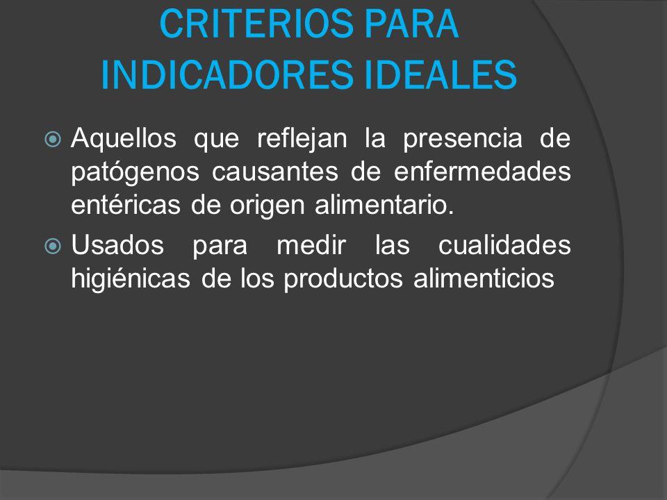 CRITERIOS PARA INDICADORES IDEALES