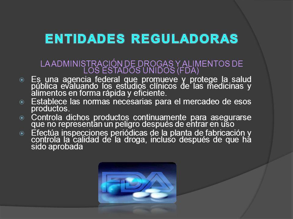 ENTIDADES REGULADORAS