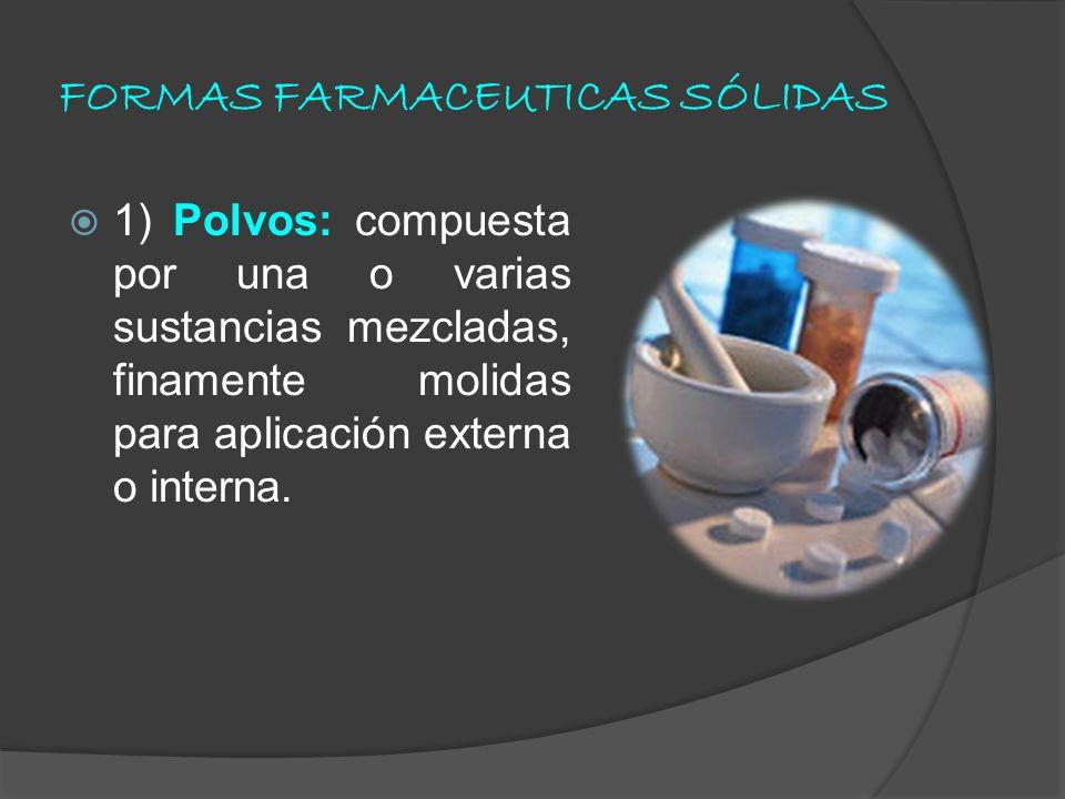 FORMAS FARMACEUTICAS SÓLIDAS