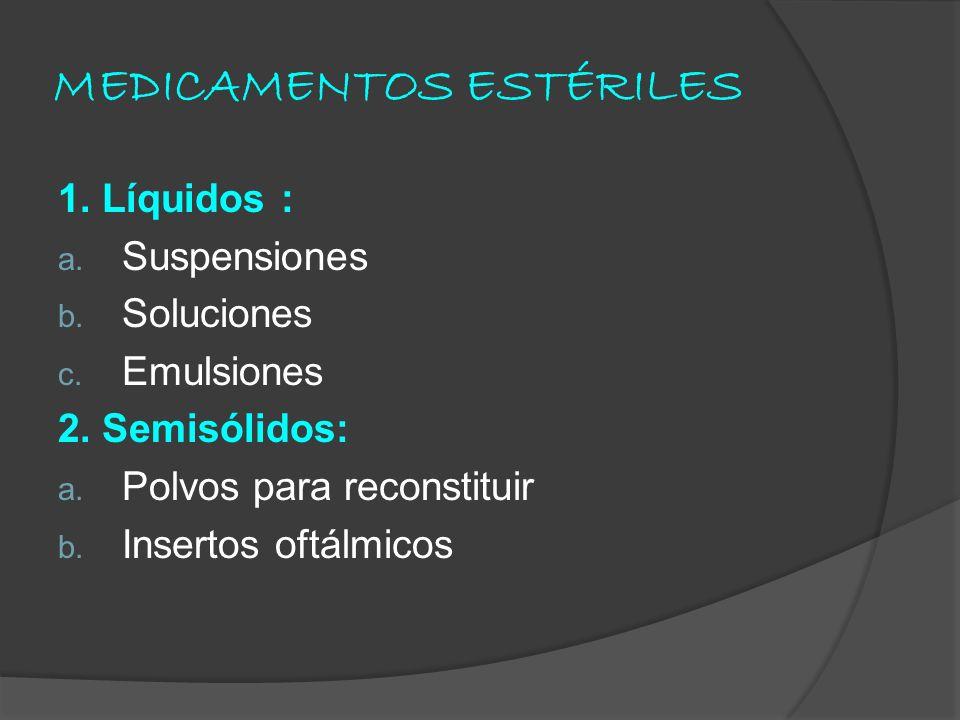 MEDICAMENTOS ESTÉRILES