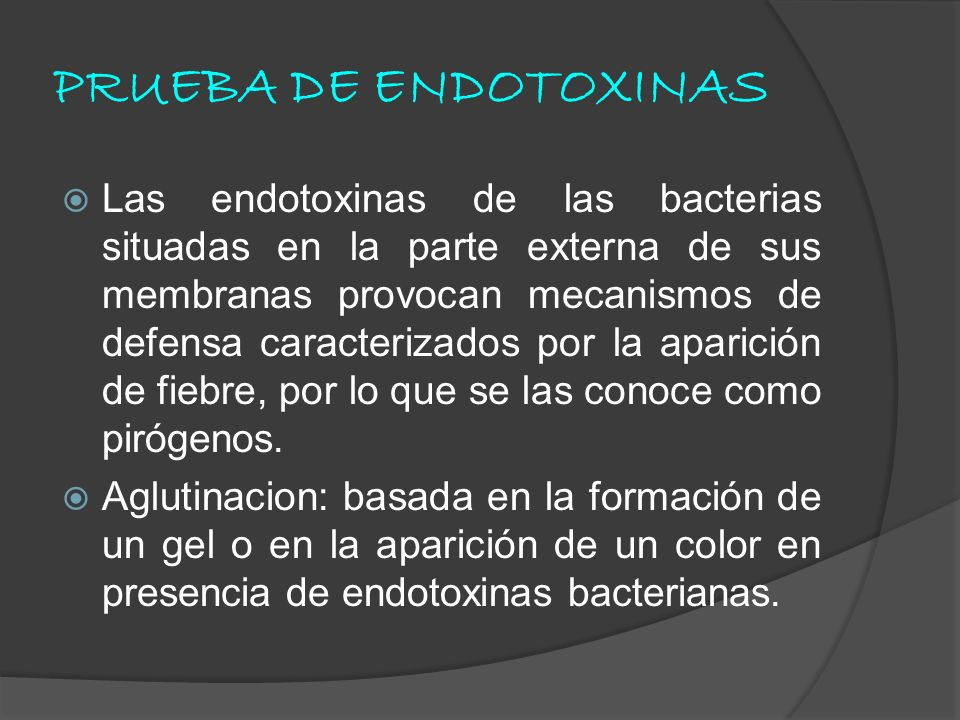 PRUEBA DE ENDOTOXINAS