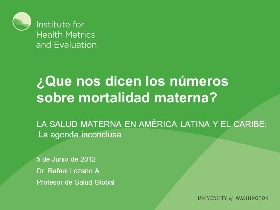 ¿Que nos dicen los números sobre mortalidad materna