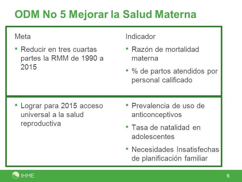 ODM No 5 Mejorar la Salud Materna