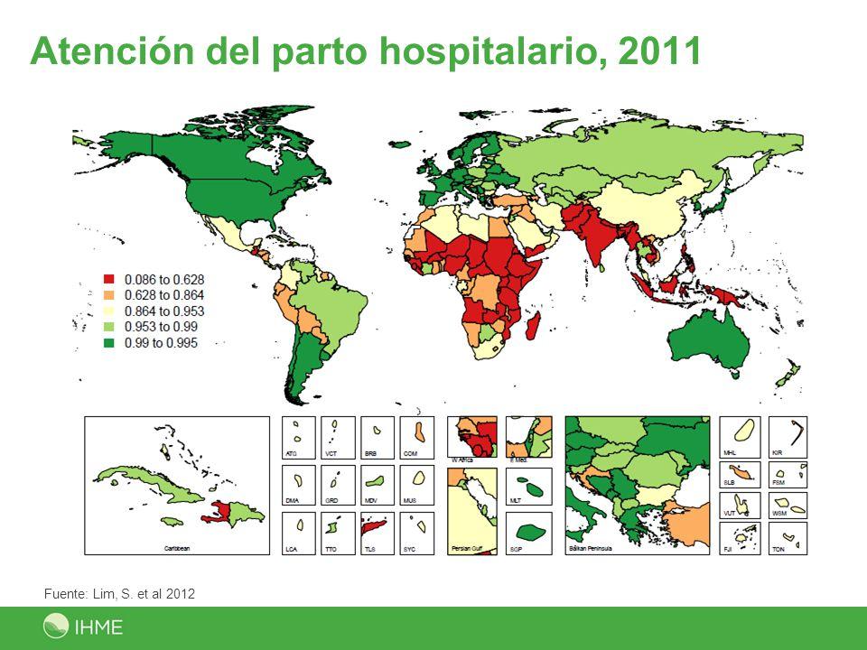 Atención del parto hospitalario, 2011