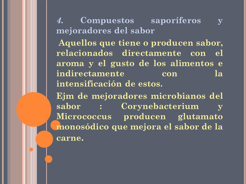 4. Compuestos saporíferos y mejoradores del sabor