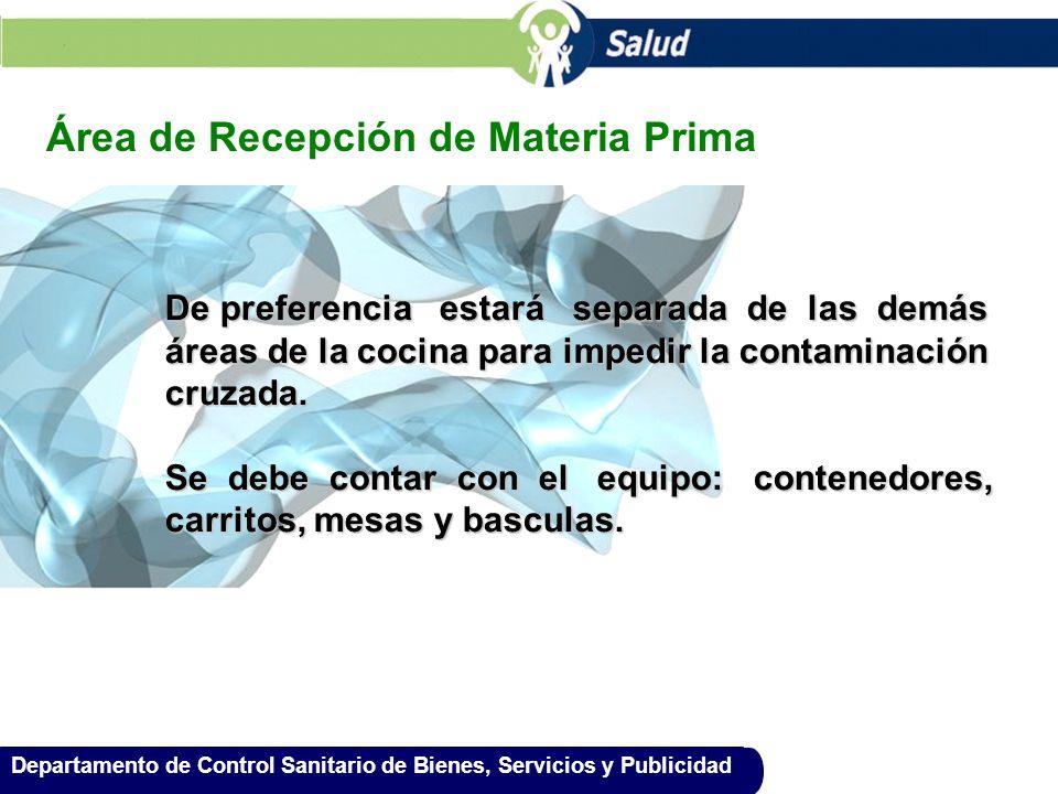 Área de Recepción de Materia Prima