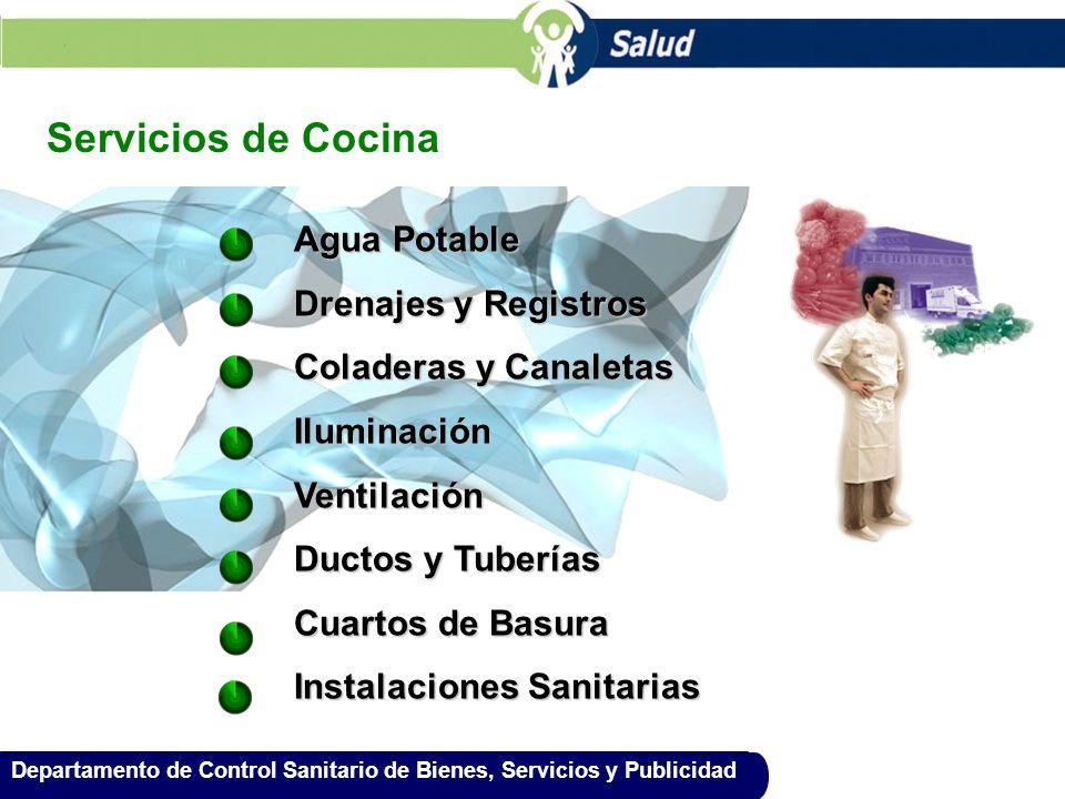 Servicios de Cocina Agua Potable Drenajes y Registros