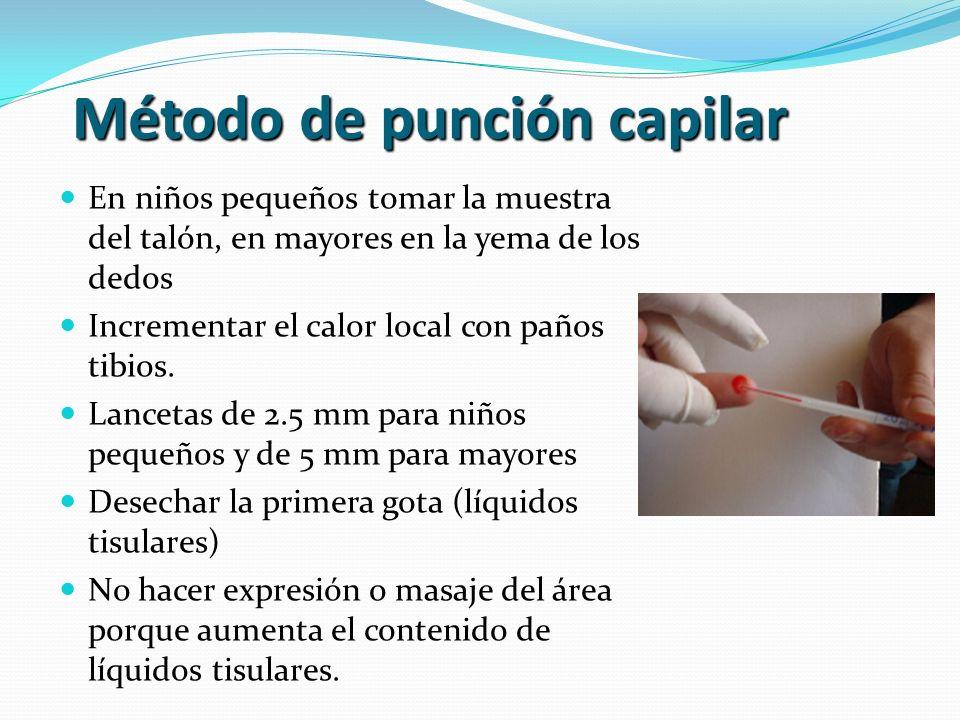 Método de punción capilar