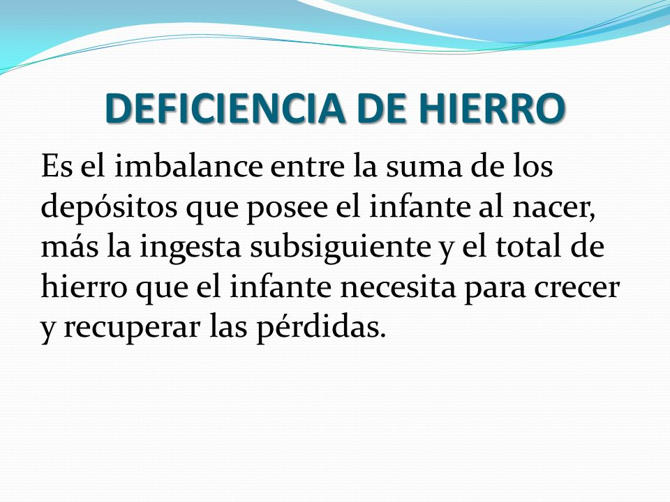 DEFICIENCIA DE HIERRO