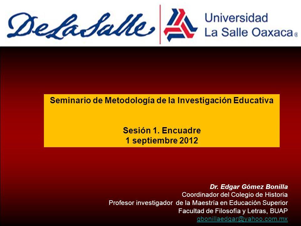 Seminario de Metodología de la Investigación Educativa - ppt video ...