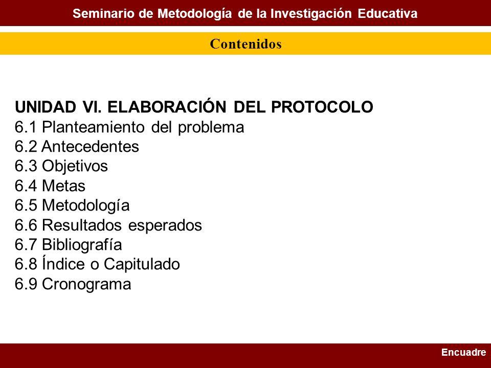 Seminario de Metodología de la Investigación Educativa